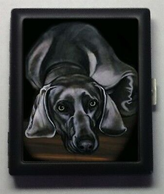 Weimaraner Dog  Metal Wallet Cigarette Case #439