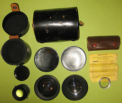 4 Vintage Photography Lenses With Cases