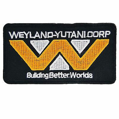 Weyland Corp Iron On Patch Alien Movie Film Cosplay Costume Sci Fi Sew