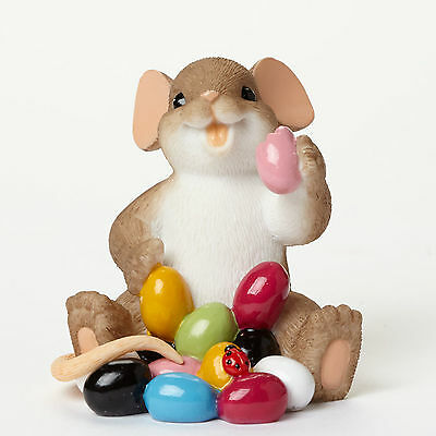 Charming Tails I Love My Yum Yums Mouse Figure 4043856 NEW Easter Jelly Beans
