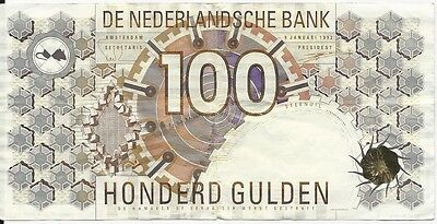 Banknote Niederlande / Holland / The Netherlands 100 (!) Gulden 1992