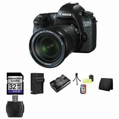 Canon EOS 6D DSLR Camera w/24-105mm STM Lens 32GB Package