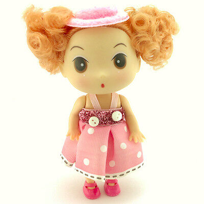 Pink Decoration Hat Dress Ddung Doll Cell Phone Keychain Bag Strap Girl Gift New