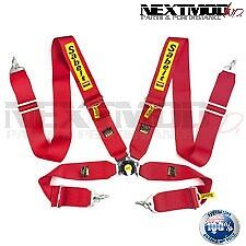 Sabelt 4 Point pt Camlock Racing Harness - RED. drift drag race gymkhana safety
