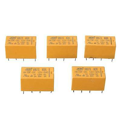 New 10 Pcs DC 12V SHG Coil DPDT 8 Pin 2NO 2NC Mini Power Relays PCB Types HK19F