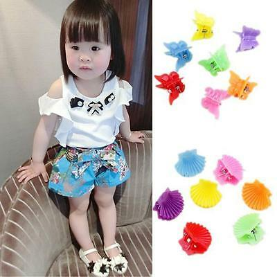 30Pcs New Fashion Mixed colors Plastic Hair Clip Baby Women Clamp 9 Style HOAU