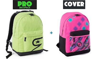 Zaino SEVEN - THE DOUBLE PRO - VERDE + COVER INTERCAMBIABILE Rosa fantasia - 24