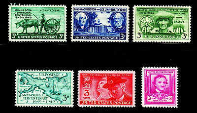 1949 Commemorative Year set (6 Stamps) - MNH