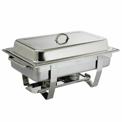 Olympia Milan Chafing Set Mirror Polished Stainless Steel Dish Chafer Buffet