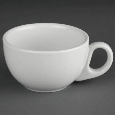 Athena Hotelware Cappuccino Cups in White Porcelain 228 ml 8 oz 24 pc