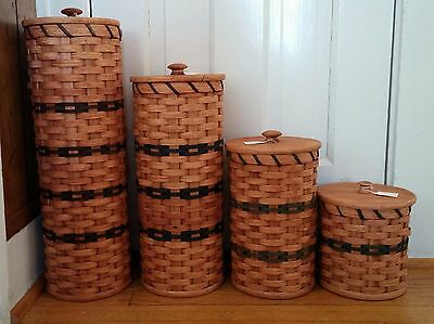 Handwoven Amish-made Toilet Paper Basket with Lid