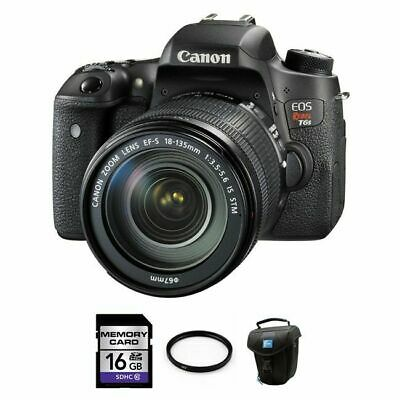 Canon EOS Rebel T6s DSLR Camera w/18-135mm STM Lens + 16GB, UV Filter & Case