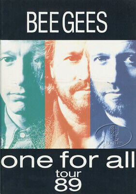BEE GEES 1989 ONE FOR ALL Tour Concert Program Book Programme