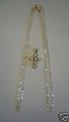 AVON Sterling Silver CZ Cross Pendant   NEW