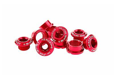 Aerozine A2 Bike Crank Chainring Bolts Nuts for Shimano Single/Double 7g Red