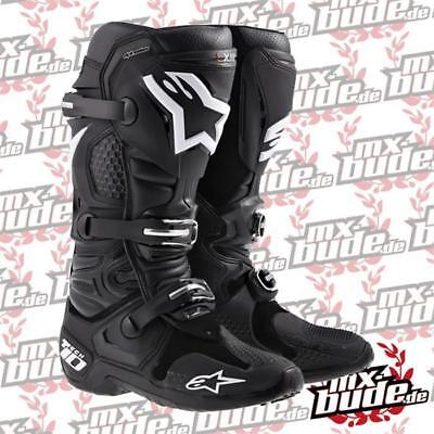 Alpinestars Tech 10 Motocross Stiefel schwarz Motocross Enduro Cross MTB