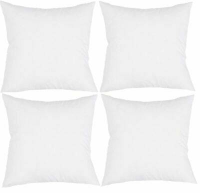 4 Cushion Pillow Inserts 45 x 45 cm Hypoallergenic Fibre FREE STD Post