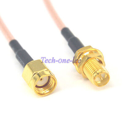 5pcs 20'' RP-SMA Male to RP SMA Female WIFI Antenna Cable Pigtail RG316 50cm
