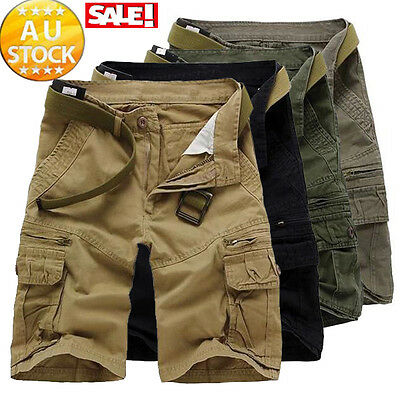 Fashion Men's Cargo Pants Shorts Trousers Casual Military CAMO Combat Army