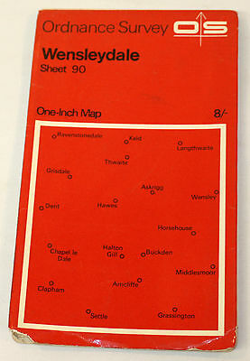 Ordnance Survey One Inch Map - Lancaster & Kendal - Sheet 89 -  1965