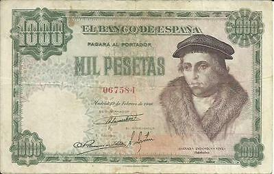 XF  CONDITION SPAIN 1000 PTAS 1957  P 149 4RW 04MAR