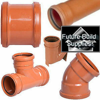 110mm Underground Drainage Pipe Bends Couplings Bottle Gully Branch Junction
