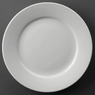 12X Athena Hotelware Wide Rimmed Service Plates 9 In Porcelain White