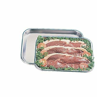 Olympia Large Butchers Tray with Raised Edges Made of Stainless Steel - 16x12in