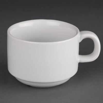Athena Hotelware Stacking Cups in White Porcelain 200 ml 7 oz 24 pc