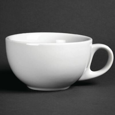 12 X Athena Hotelware Cappuccino Cups 285Ml Porcelain Chip-Resistant Tableware
