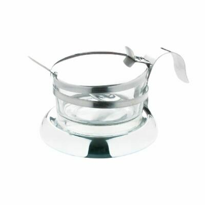 Parmesan Dish With Spoon 75X117mm Stainless Steel And Glass Bowl Cheese