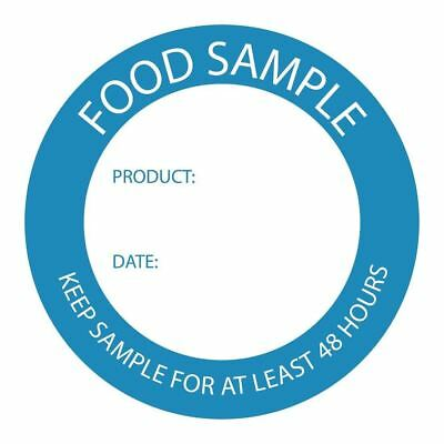Vogue Food Sample Labels - Wipeable / Microwave and Freezer Safe - Pack of 500