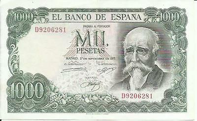Spain 1000 Pesetas 1971  P 154. Xf Condition. 3Rw 23 Abril