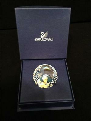 S1881 SWAROVSKI CRYSTAL PAPERWEIGHT SMALL ROUND MOZART MINT CONDITION