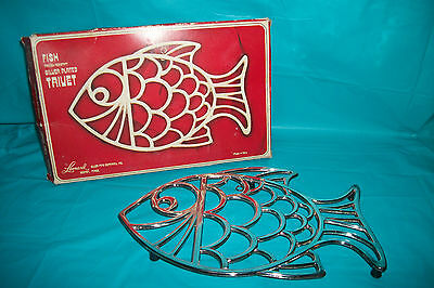LEONARD SILVERPLATED FISH TRIVET
