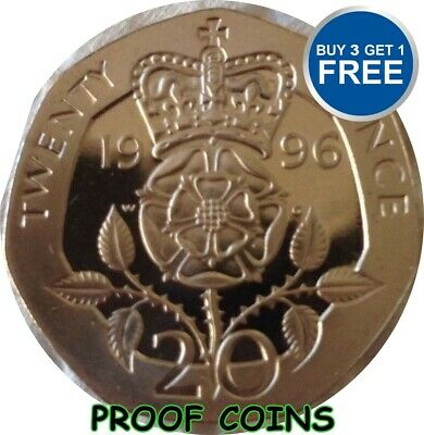 PROOF ENGLISH DECIMAL TWENTY PENCE 2Ops COINS CHOICE OF DATE 1982-2015
