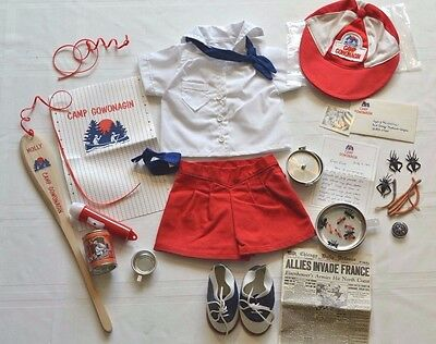 American Girl Pleasant Company Molly's Camp Outfit+Camp Equip+Capture the flag