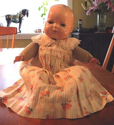 MADAME HENDREN COMPOSITION BABY DOLL WITH SQUEAKER