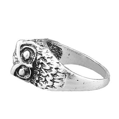 10 pcs Owl Ring Wholesale Lot Vintage Look Antique Silver Plated Fashion Jewelry