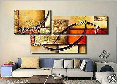 MODERN ABSTRACT WALL DECOR LARGE OIL PAINTING ON ART CANVAS 3PC(NO frame)P148