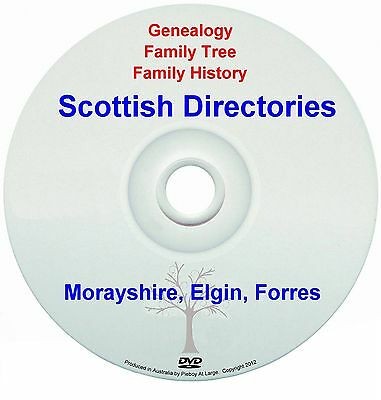 Family History Genealogy Scotland Morayshire Elgin Forres Districts New DVD