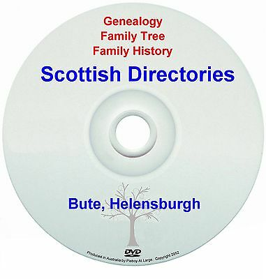 Family History Tree Genealogy Scotland Bute Helensburgh Directories New DVD