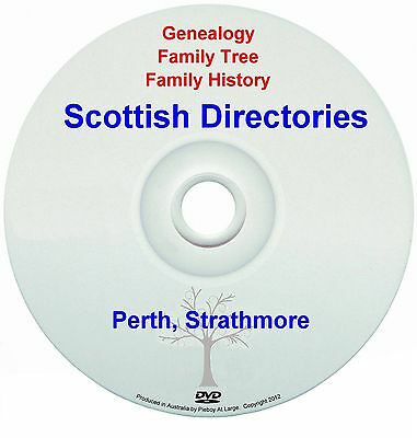 Family History Tree Genealogy Scotland Perth Strathmore Directories New DVD