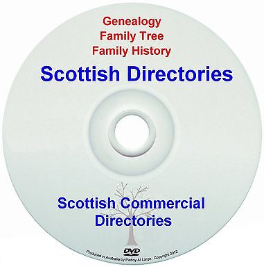 Family History Tree Genealogy Scotland Scottish Commercial Directories New DVD