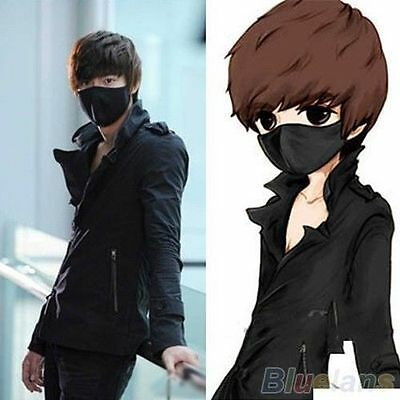 Hot ! Black Mens Womens Cycling Anti-Dust Cotton Mouth Face Mask Respirator