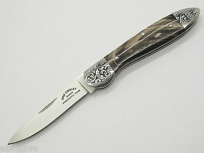 BOB CONLEY MAKER JONESBORO, TENN CUSTOM ENGRAVED GENTLEMAN FOLDING POCKET KNIFE