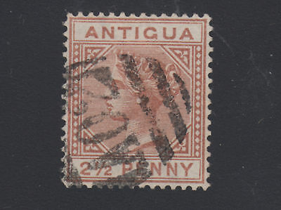 "Antigua Sc 9a used. 1897 2½p red brown, ""Large 2 with Slanted Foot"". Cert."