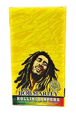 Bob Marley 1 1/4 ROLLING PAPERS box of 25 Booklet Packs Sealed New Free Shipping