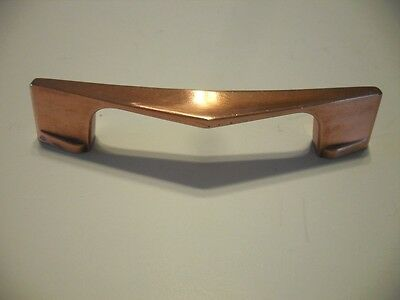 Vintage COPPER DRAWER or Cabinet Door Handles Chevron Boomerang V-Pulls