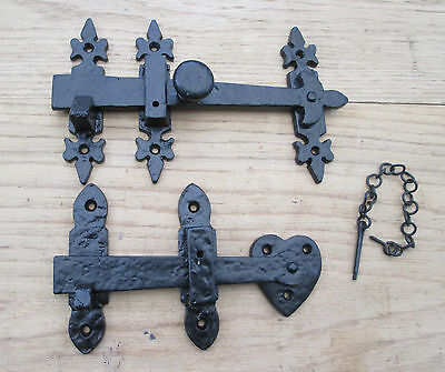 Cast iron Vintage old style bathroom Privacy Door Latch catch